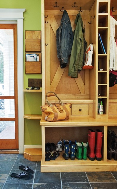 Mudroom Redesign contemporary-entry