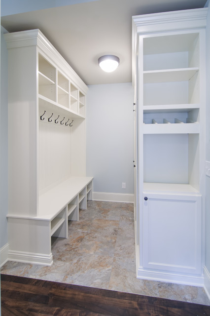 Mudroom with Lockers traditional entry