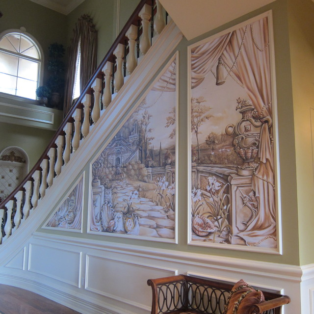Foyer Entrance Questions : Mural in entry foyer eclectic miami by