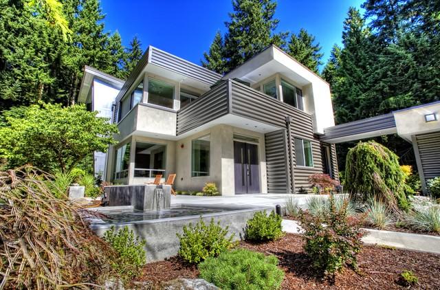 Advanced Building Consultants : Murstein house entry fountain modern