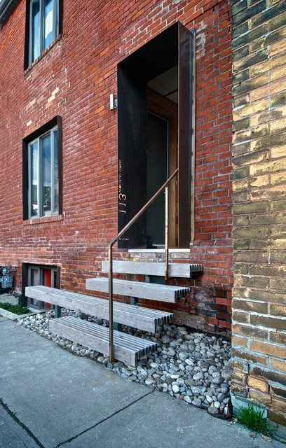 My Houzz: Creative Open-Concept Home in Toronto industrial-entry