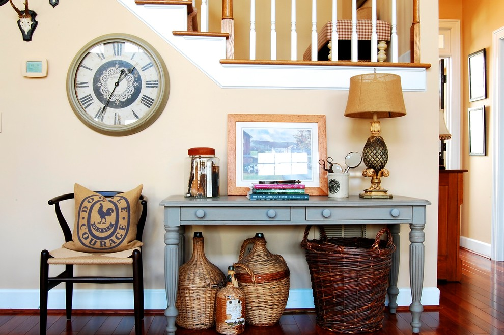 Inspiration for a french country entryway remodel in New York