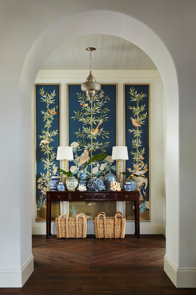 Entryway - large tropical entryway idea in Miami