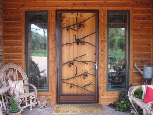 Natural Living Doors Rustic Entry Salt Lake City By Cottonwood Security Ornamental