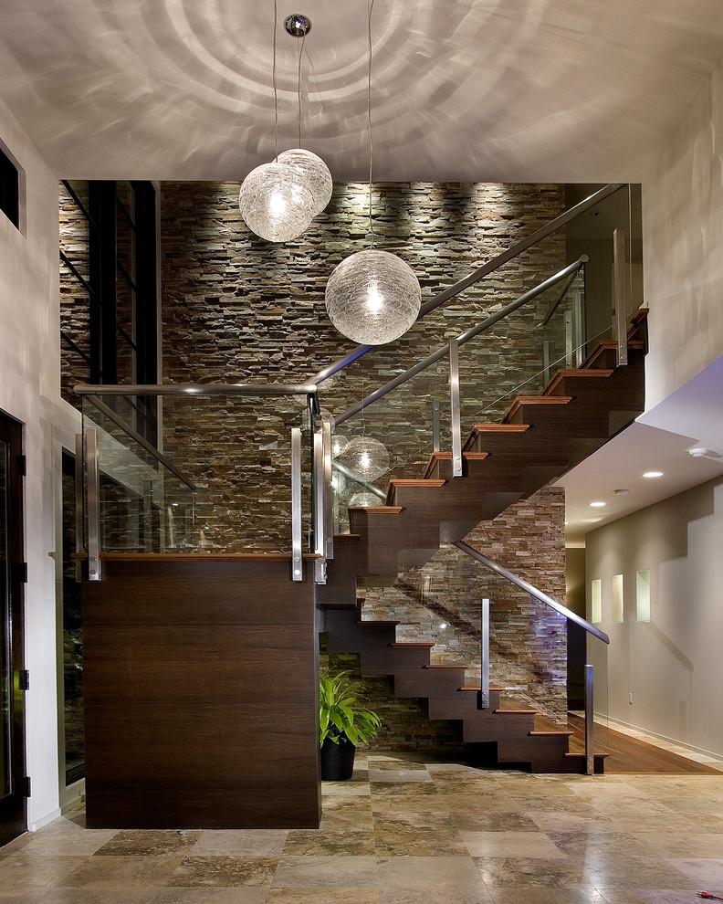 Foyer - contemporary foyer idea in Orlando