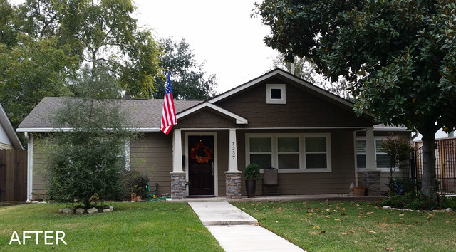 NEW FRONT PORCH craftsman-entry