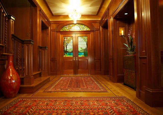 Foyer Window Nj : New jersey residence mahogany foyer millwork traditional