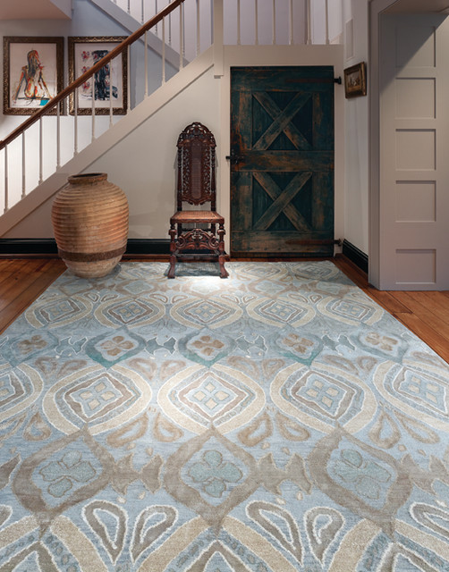 new moon rugs - country - entrance - wilmington - by kurtz collection