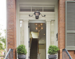 New York City townhouse traditional-entry