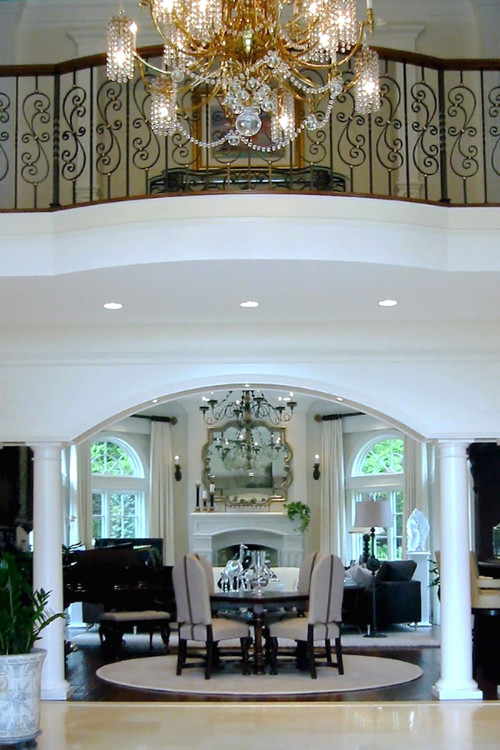 Room with Ornate Silver Wall Mirror