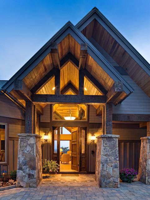 North Carolina Mountain Homes Contemporary Entry