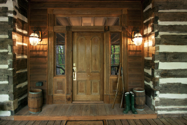 Log Cabin Entry Doors on rustic log cabin mud room