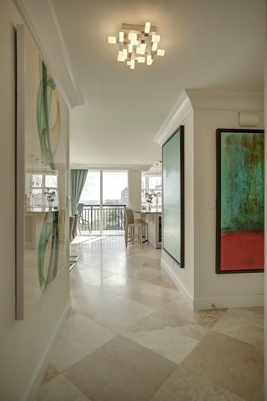 Trendy entryway photo in Miami
