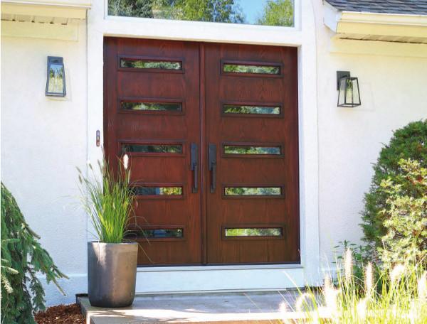 ODL Spotlight Fiberglass Front Doors Midcentury Entry