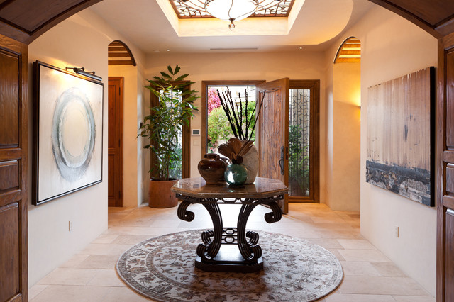 mediterranean entry by Denise Morrison Interiors