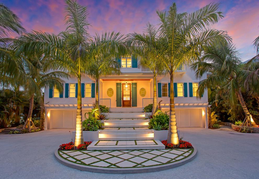Entryway - coastal entryway idea in Tampa