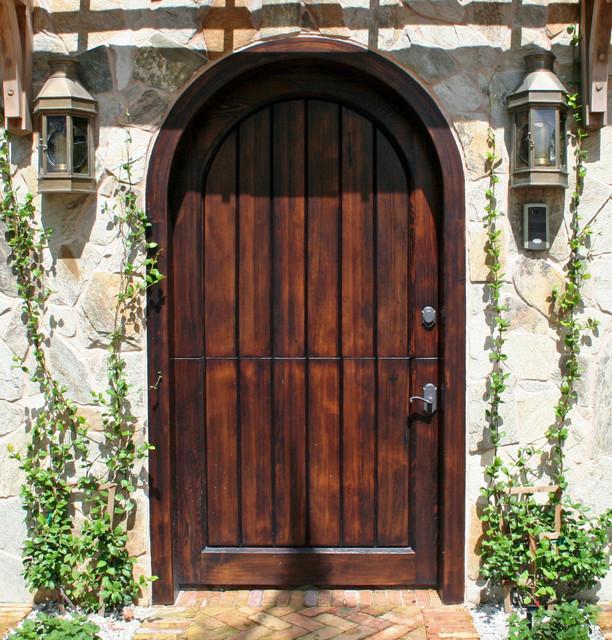 Old growth cypress dutch door rustic-entry