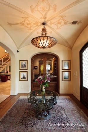 Tuscan entryway photo in Houston