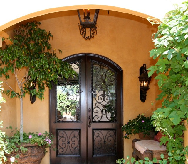 Mediterranean Style Entry Doors: Old World Tuscan