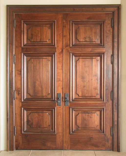Old World Walnut Entry Doors - Traditional - Entry - Other - by WGH Woodworking