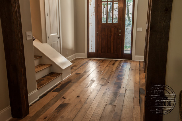 Olivo house reclaimed hardwood floors farmhouse entry for Hardwood floors nashville