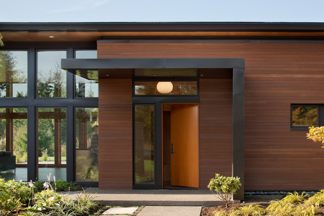 Olympia residence modern entry seattle by coates for Entrance door design ideas