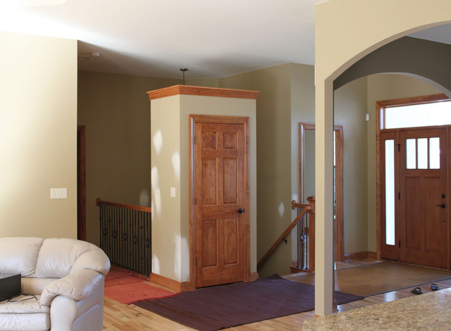 Open Concept Foyer Decorating Ideas : Open concept floor plan traditional entry milwaukee