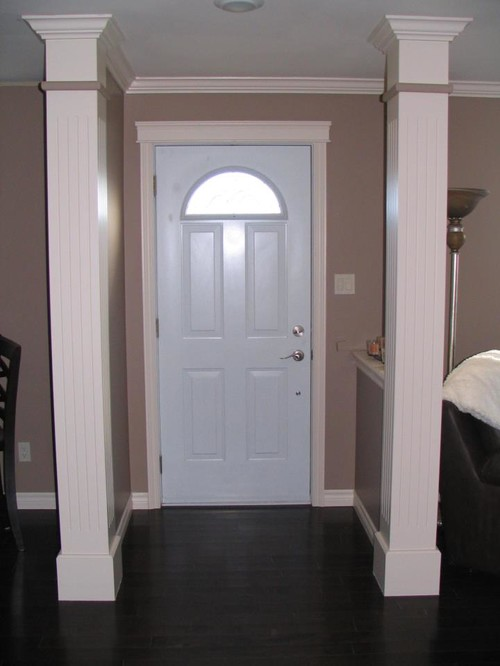 Open Concept Foyer Decorating Ideas : Need advice on small foyer with a light beige carpet in