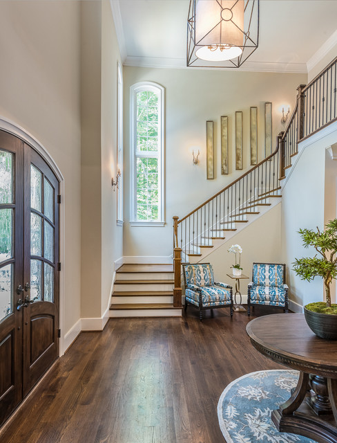 Houzz Open Foyer : Open foyer traditional entry charlotte by lauren