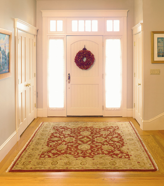 oriental rug for an elegant foyer   traditional   entry