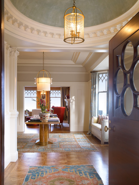 Pacific Heights Residence - Foyer traditional-entry