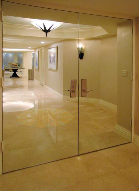Palm Beach Ocean Front Condo contemporary-entry