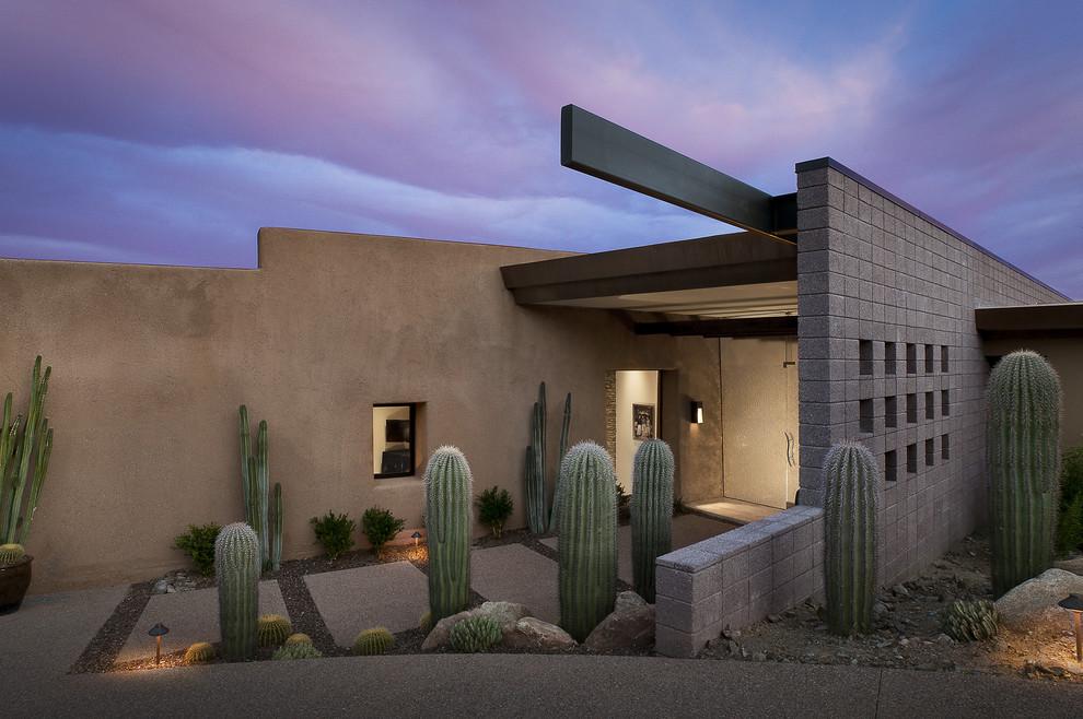 Example of a southwest front door design in Phoenix