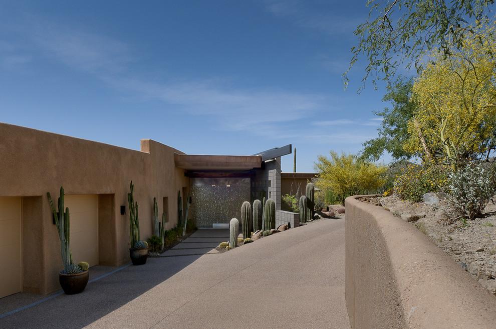 Example of a trendy entryway design in Phoenix
