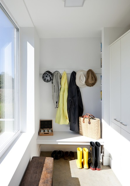 farmhouse closet by ZeroEnergy Design