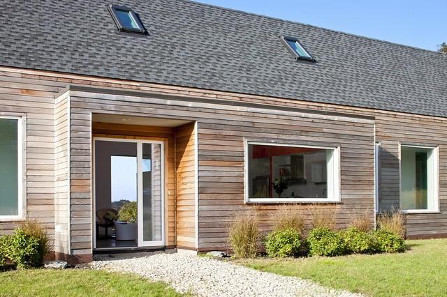cedar home designs. Example of a country single front door design in Providence Cedar Home  Houzz