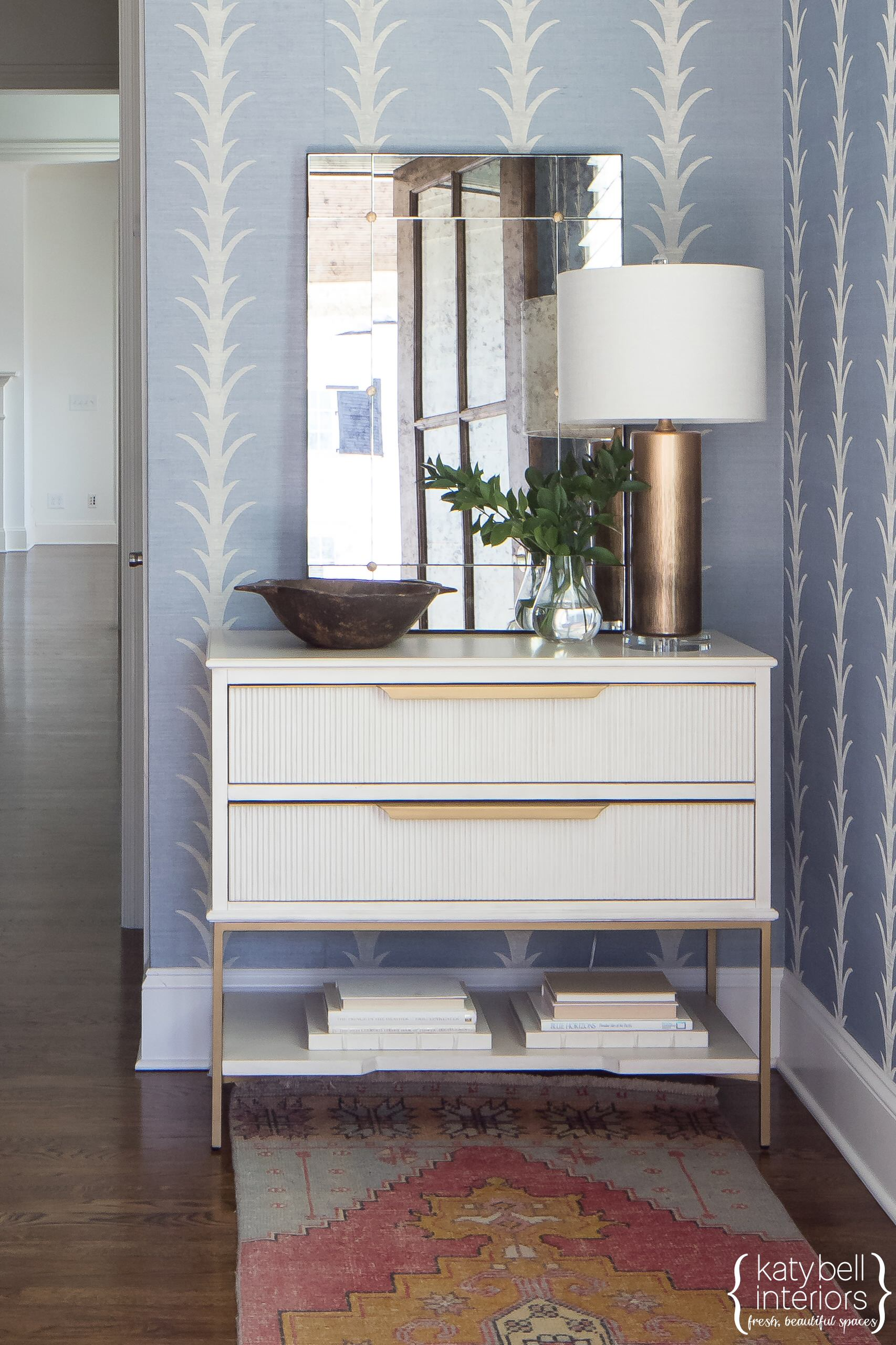 Patterned Grasscloth Entry