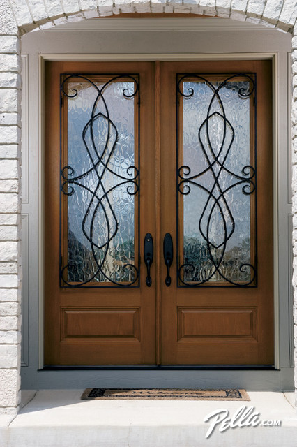 Pella Architect Series Fiberglass Entry Doors Create Instant Curb