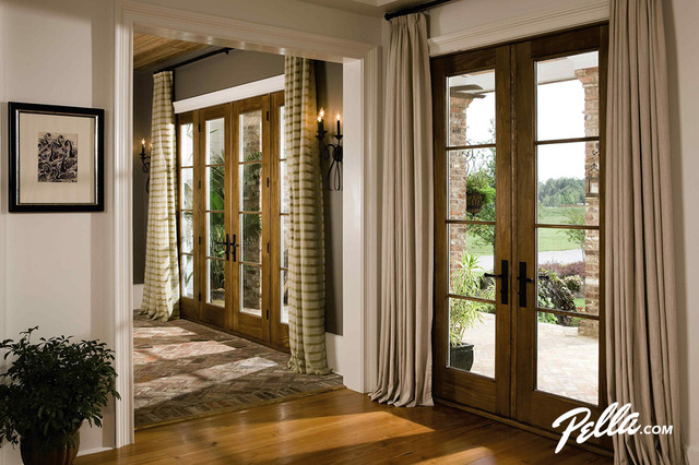 Pella Architect Series Hinged Patio Doors Convey Warmth Traditional Ent