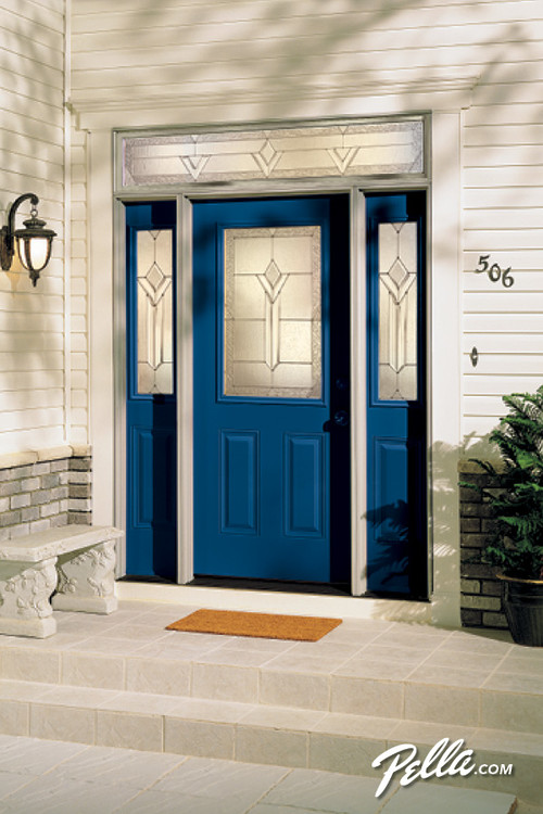 Fiberglass Entry Door With Sidelights And Transom