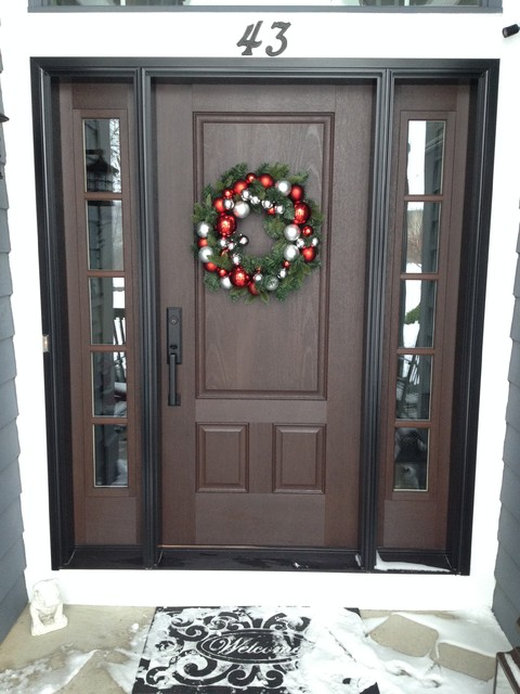 Pella Fiberglass Entry Door With Decorative Glass