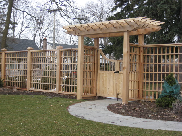 Pergola Arbor Screen Traditional Landscape Toronto