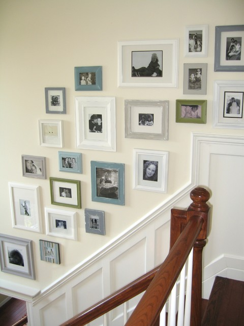 Picture collage wall - Eclectic picture frame wall ...