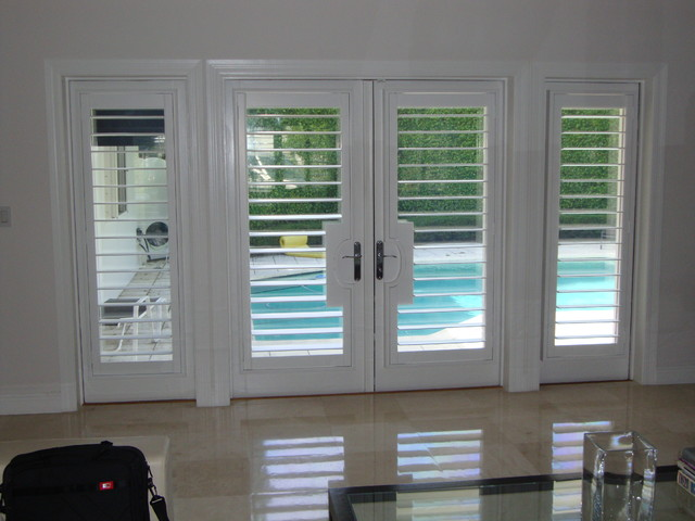 Plantation Shutters traditional-entry : plantation doors - pezcame.com