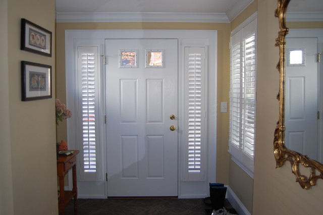 Plantation shutters traditional entry boston by for Door window shades blinds