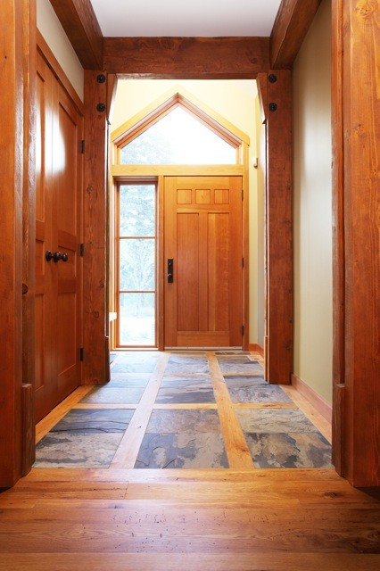 Mansion Foyer Edmonton : Poirier house craftsman entry edmonton by carlisle