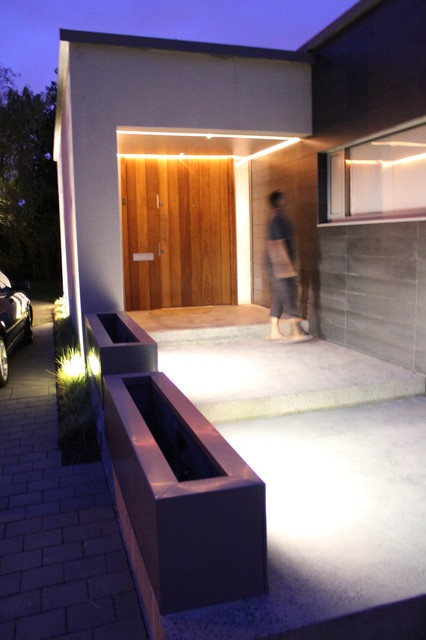 Pool House contemporary-entry