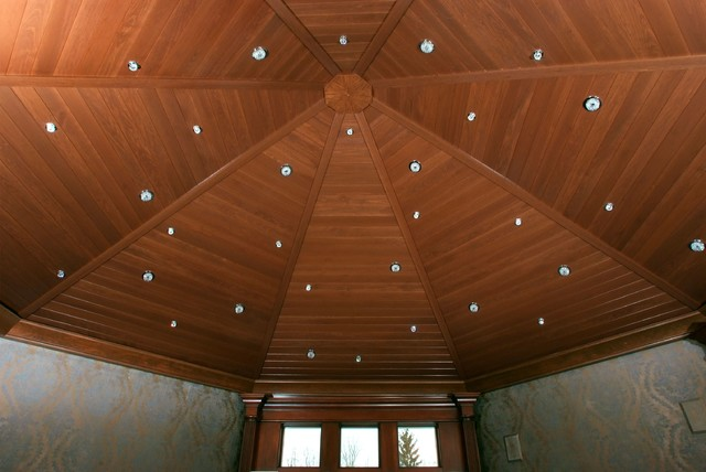 Poplar Tongue Groove Ceiling Traditional Entry