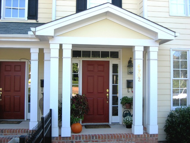 Porch columns traditional entry other metro by for Square porch columns