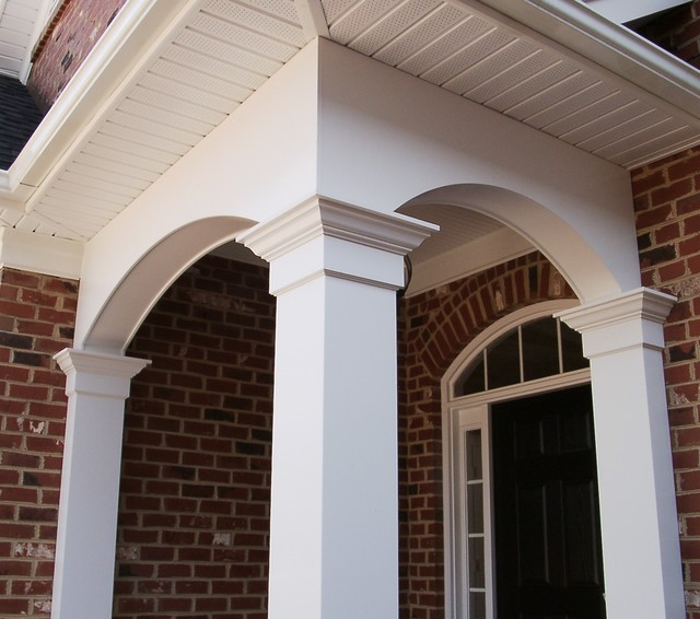 Porch columns traditional entry other metro by for Portico entrance with columns